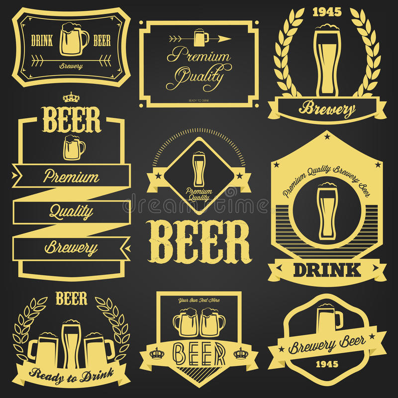 Premium Beer Label Design vector illustration