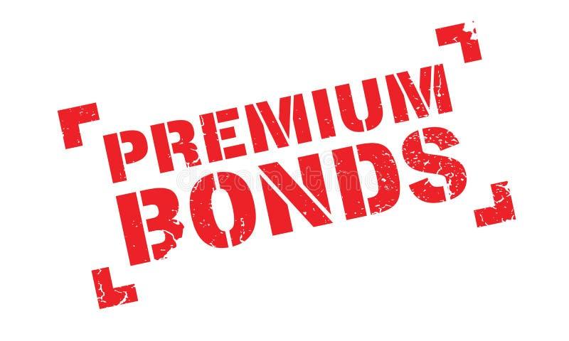 Premium Bonds rubber stamp vector illustration