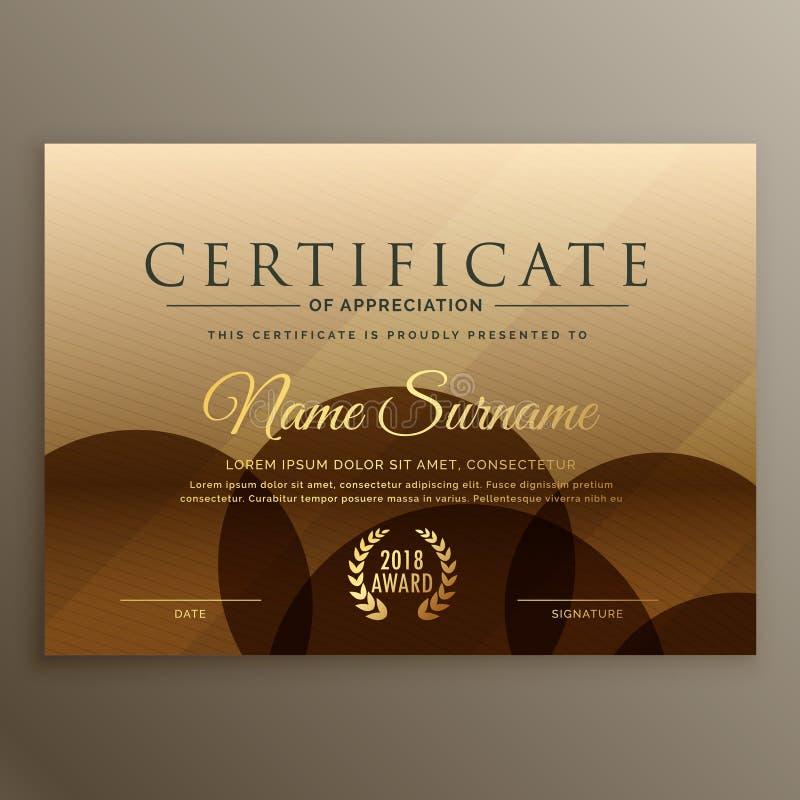 Premium brown certificate design template stock vector download premium brown certificate design template stock vector illustration of success graduation 101505807 yelopaper Gallery