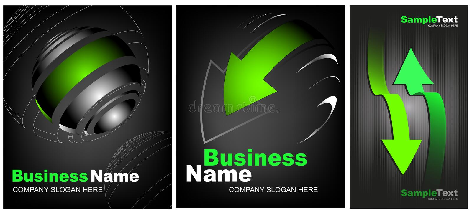 Premium Business Card and creative backgrounds royalty free illustration