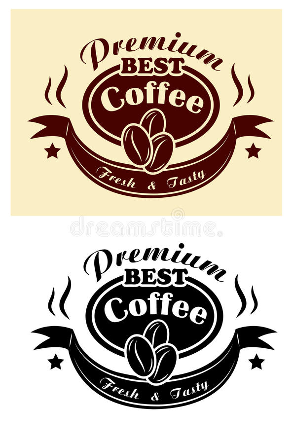 Premium coffee banner vector illustration