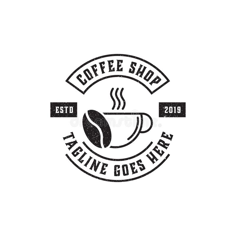Premium Coffee Shop Logo Inspiration, vintage, rustic and retro royalty free illustration