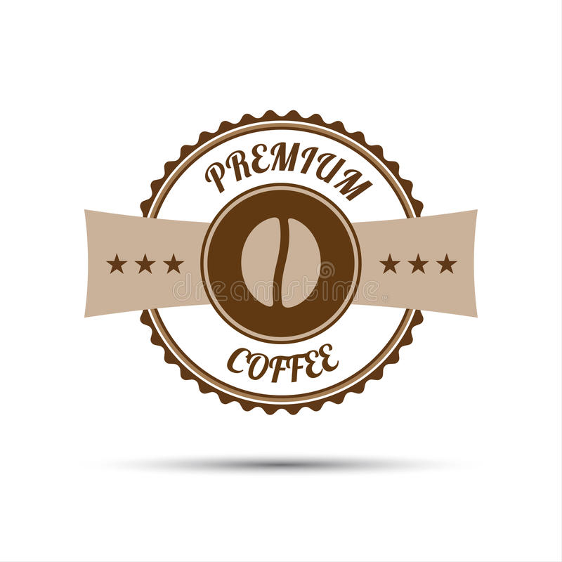 Premium coffee sticker isolated on white background royalty free illustration