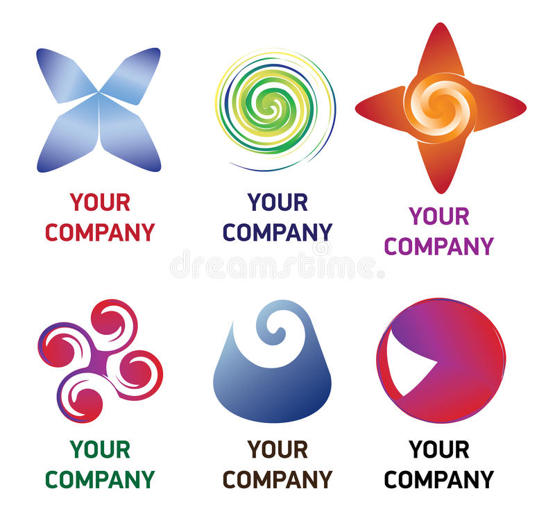 Premium company logo. Premium logo for your company, products and services. Vector additional format is additional: there you can change colors, text and other stock illustration