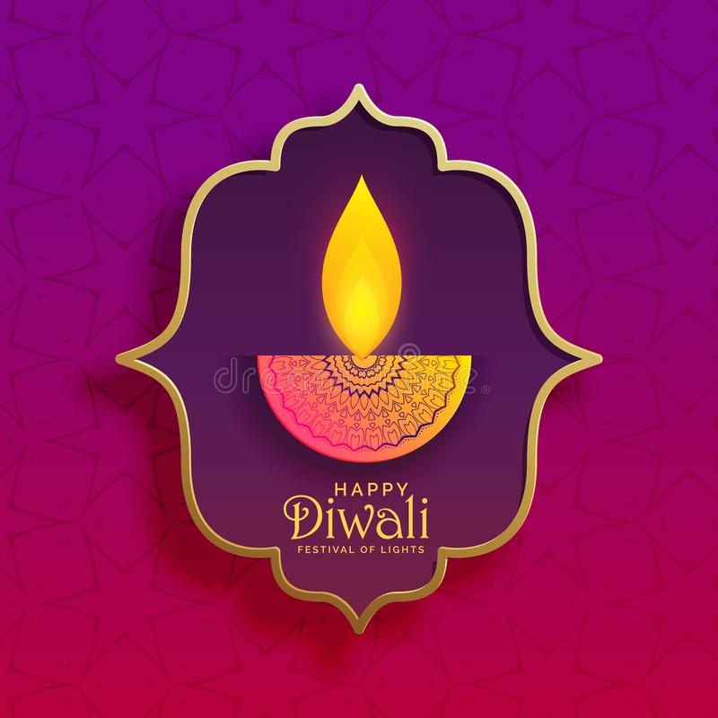 Premium creative diwali diya vector background stock illustration