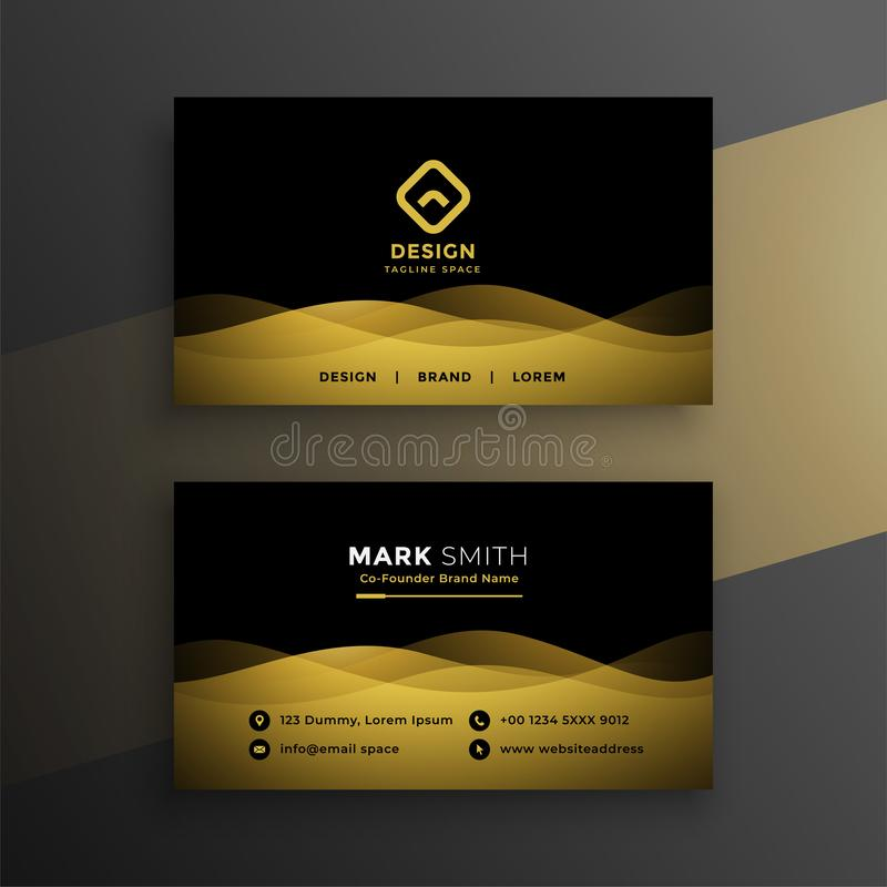 Premium dark business card design royalty free illustration