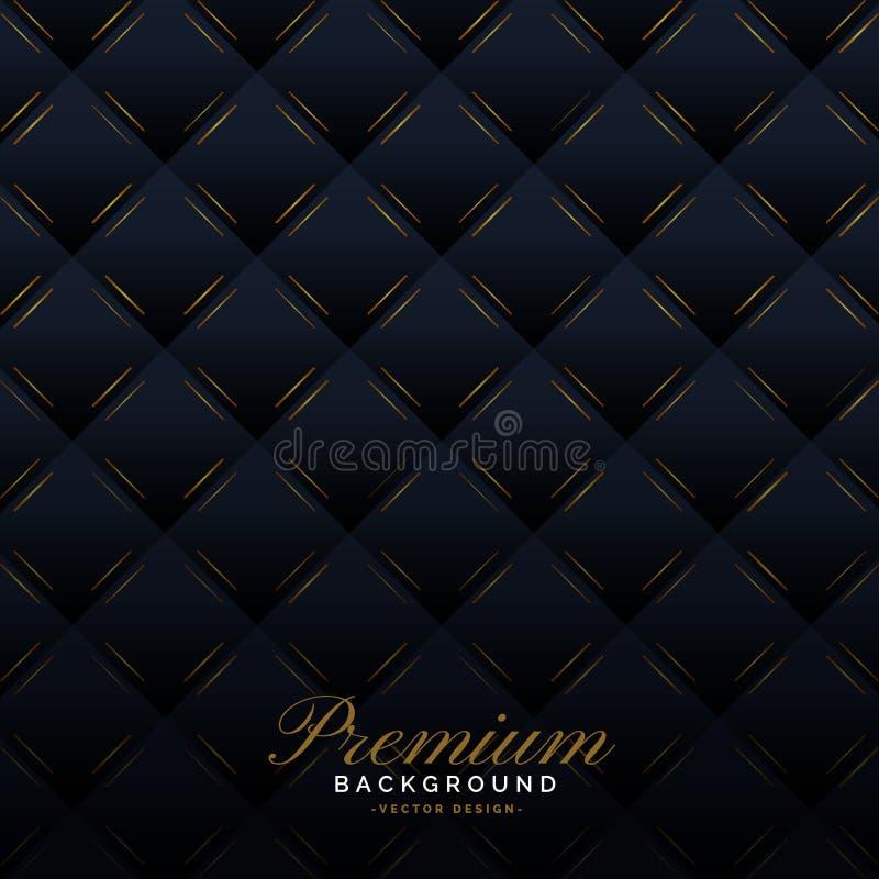 Premium dark upholstery invitation pattern background stock illustration
