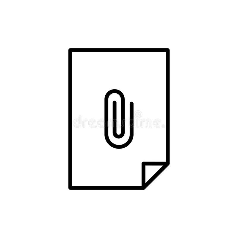 Premium document icon or logo in line style. High quality sign and symbol on a white background. Vector outline pictogram for infographic, web design and app royalty free stock photos
