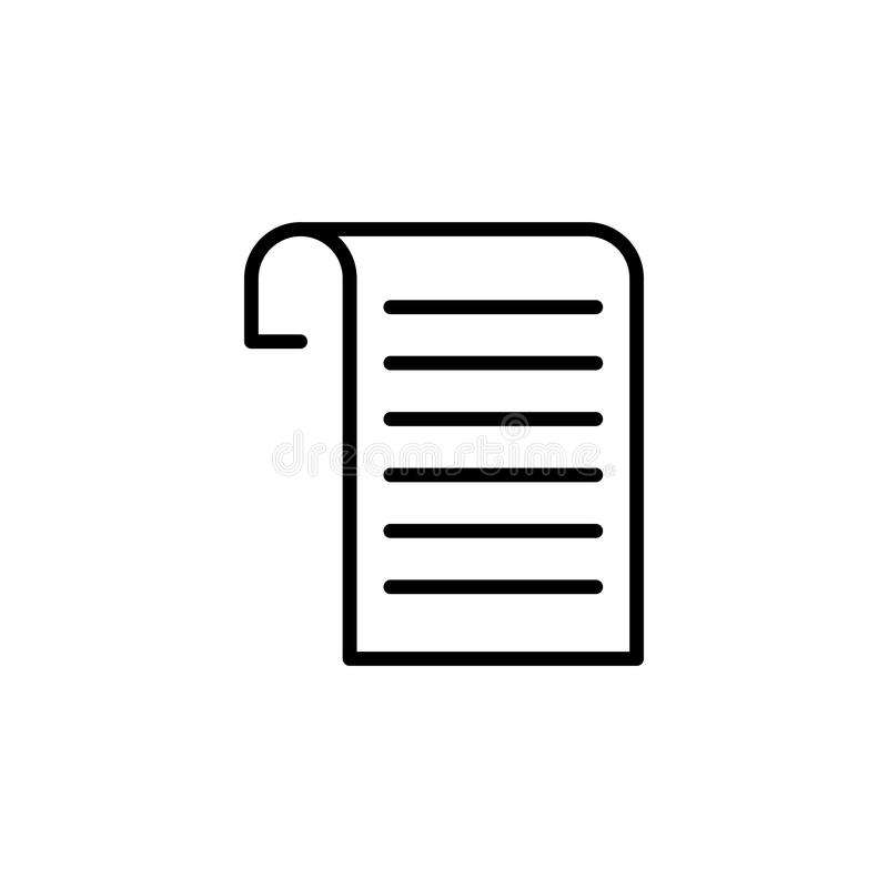 Premium document icon or logo in line style. High quality sign and symbol on a white background. Vector outline pictogram for infographic, web design and app stock images
