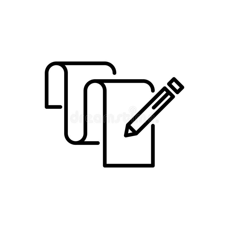 Premium document icon or logo in line style. High quality sign and symbol on a white background. Vector outline pictogram for infographic, web design and app royalty free stock photo