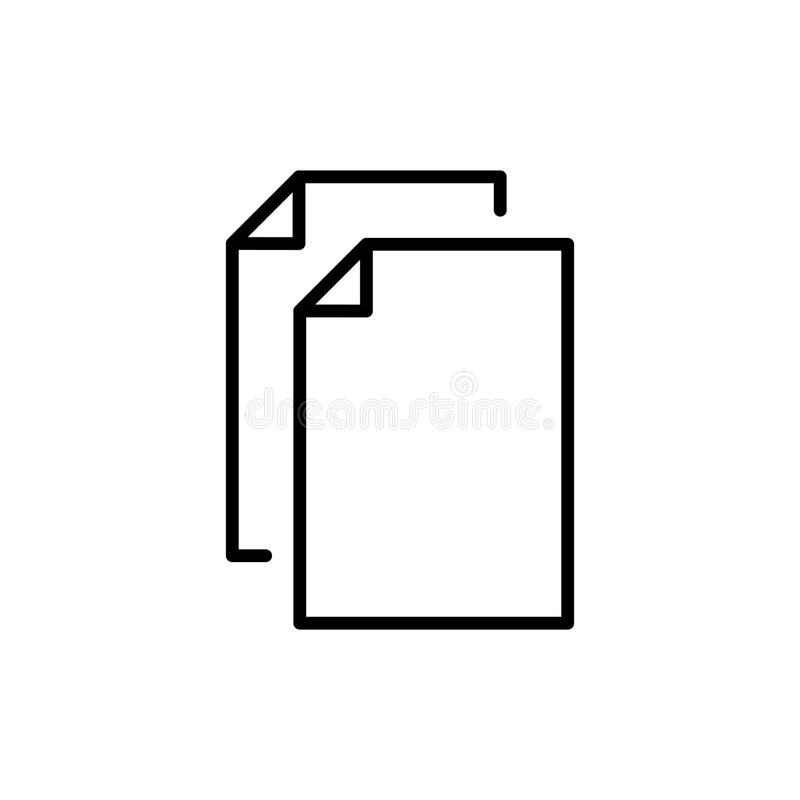 Premium document icon or logo in line style. High quality sign and symbol on a white background. Vector outline pictogram for infographic, web design and app stock image