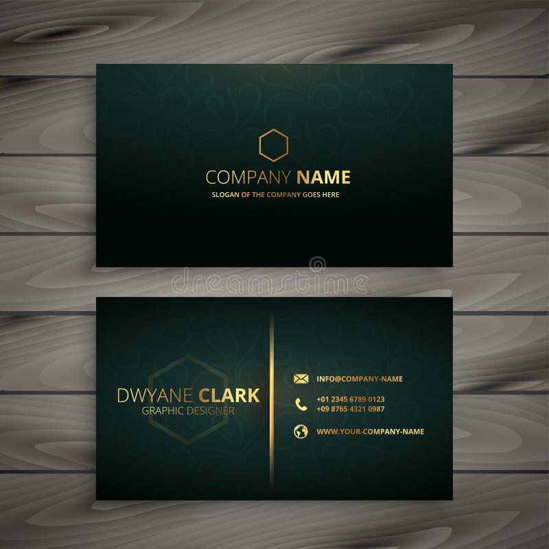 Premium elegant business card template royalty free illustration