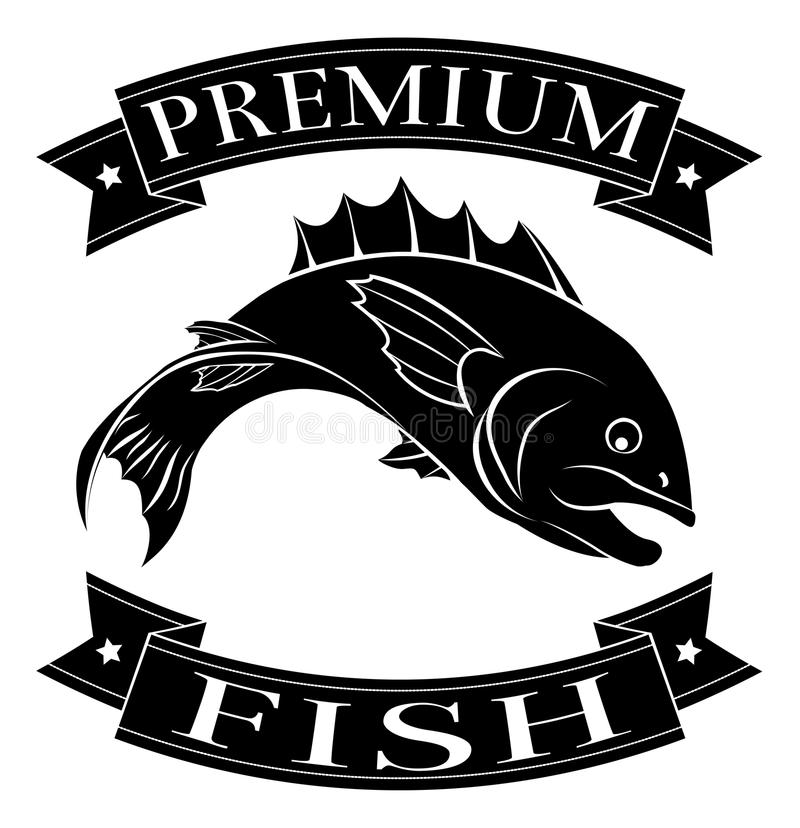 Premium fish icon royalty free illustration