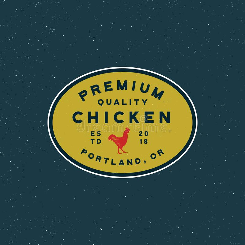 Premium fresh chicken meat label. vector illustration vector illustration