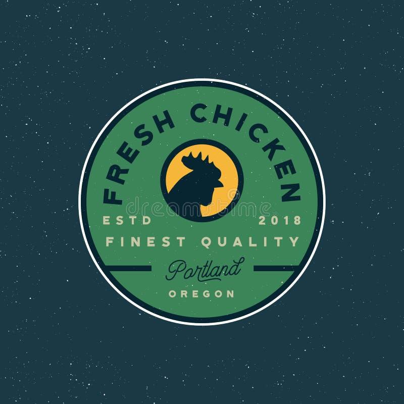 Premium fresh chicken meat label. vector illustration stock illustration