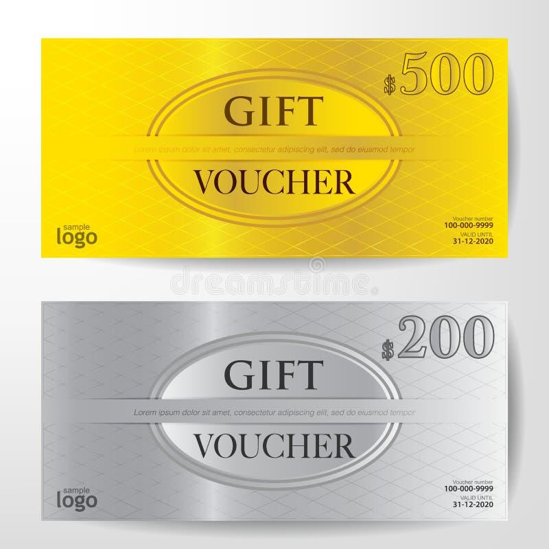 Premium Gift Voucher Template vector illustration. Eps 10 royalty free illustration