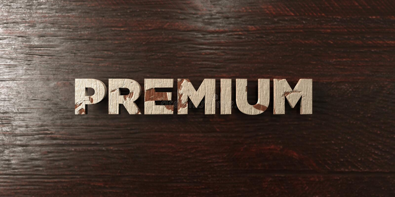 Premium - grungy wooden headline on Maple - 3D rendered royalty free stock image vector illustration