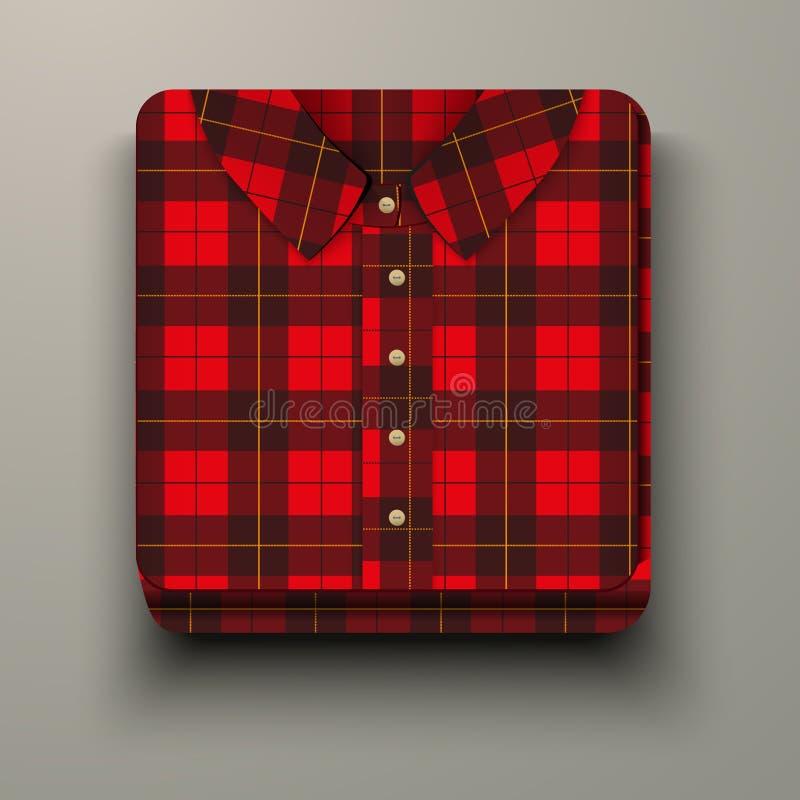 Free Premium Icon Flannelette Plaid Shirt. Stock Photos - 34905373