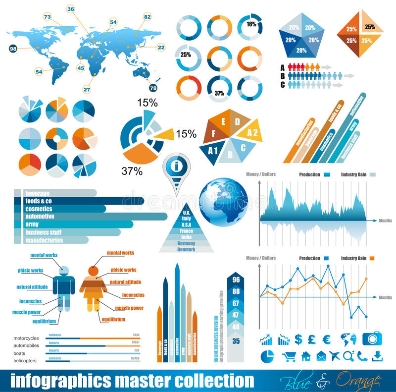 Download Premium Infographics  Master Collection Stock Vector - Illustration: 21810343