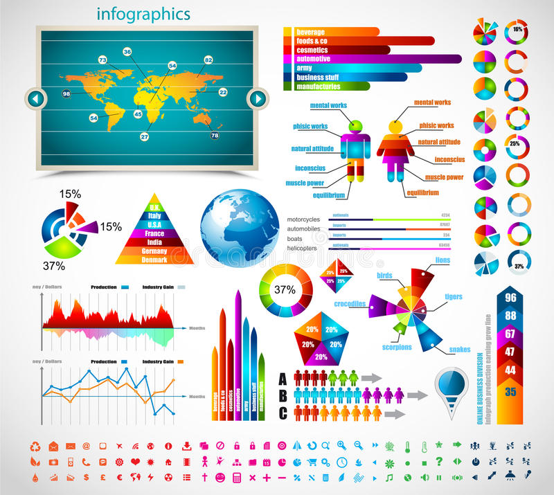 Premium infographics master collection: vector illustration