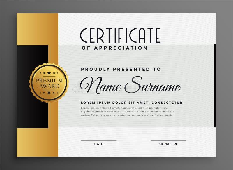 Premium luxury certificate design template vector illustration