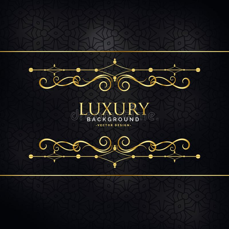 premium luxury invitation background with golden design decoration royalty free illustration