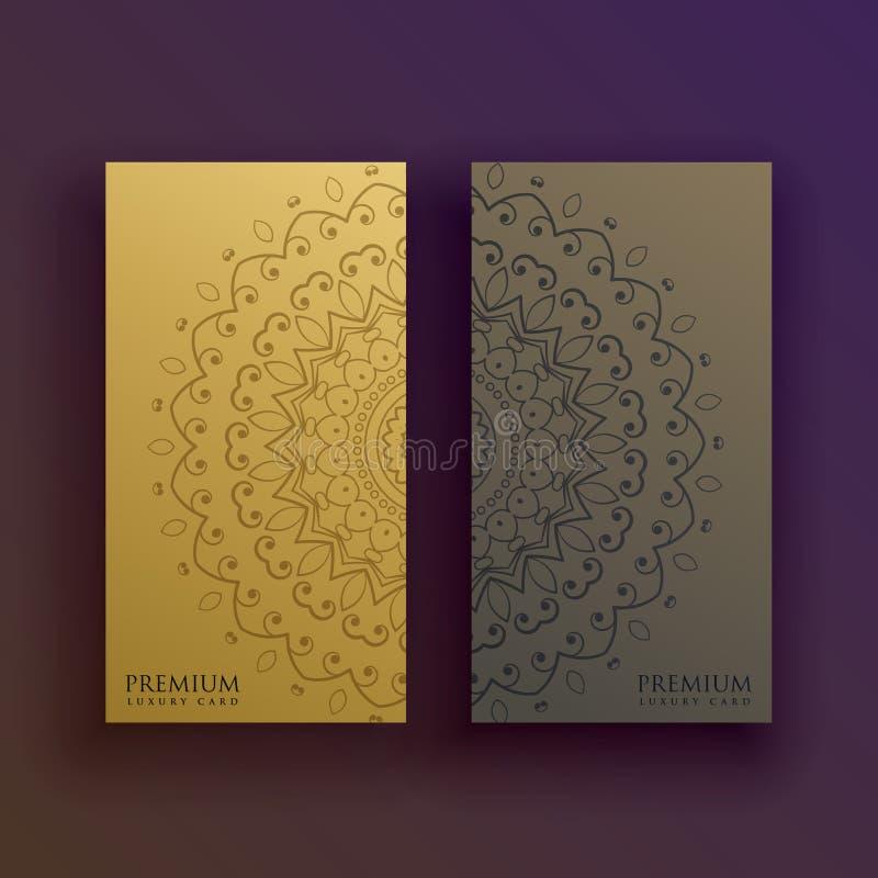 Premium mandala card decoration design vector illustration