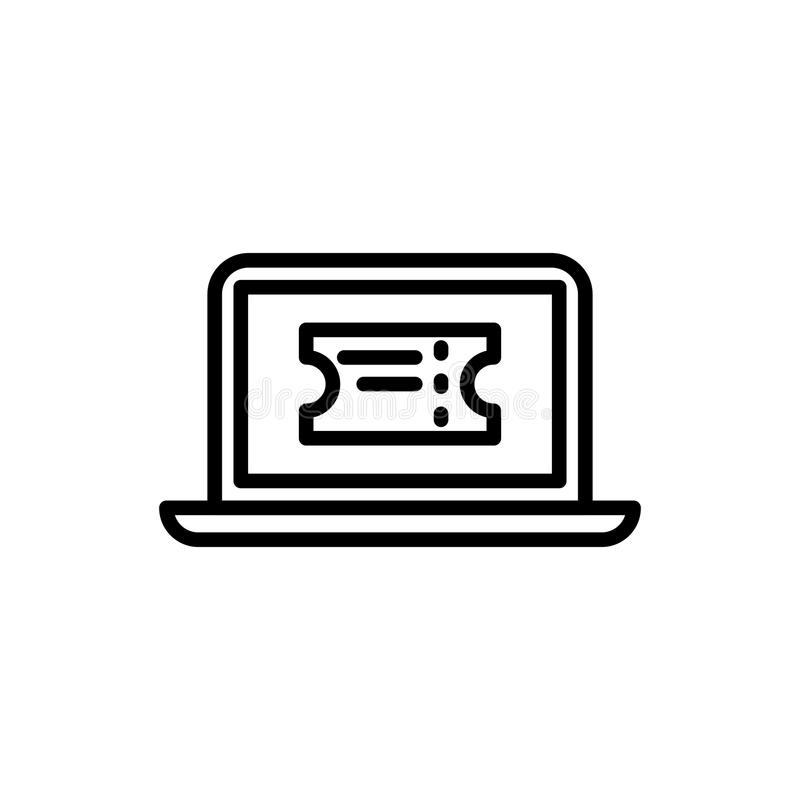 Premium online booking icon or logo in line style vector illustration