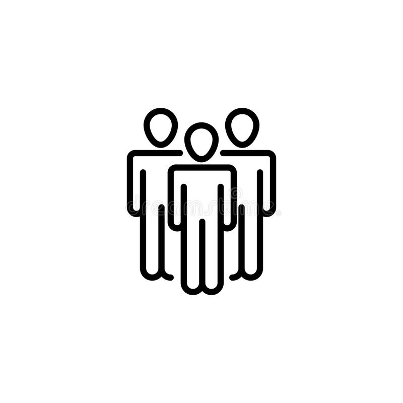 Premium people icon or logo in line style. vector illustration