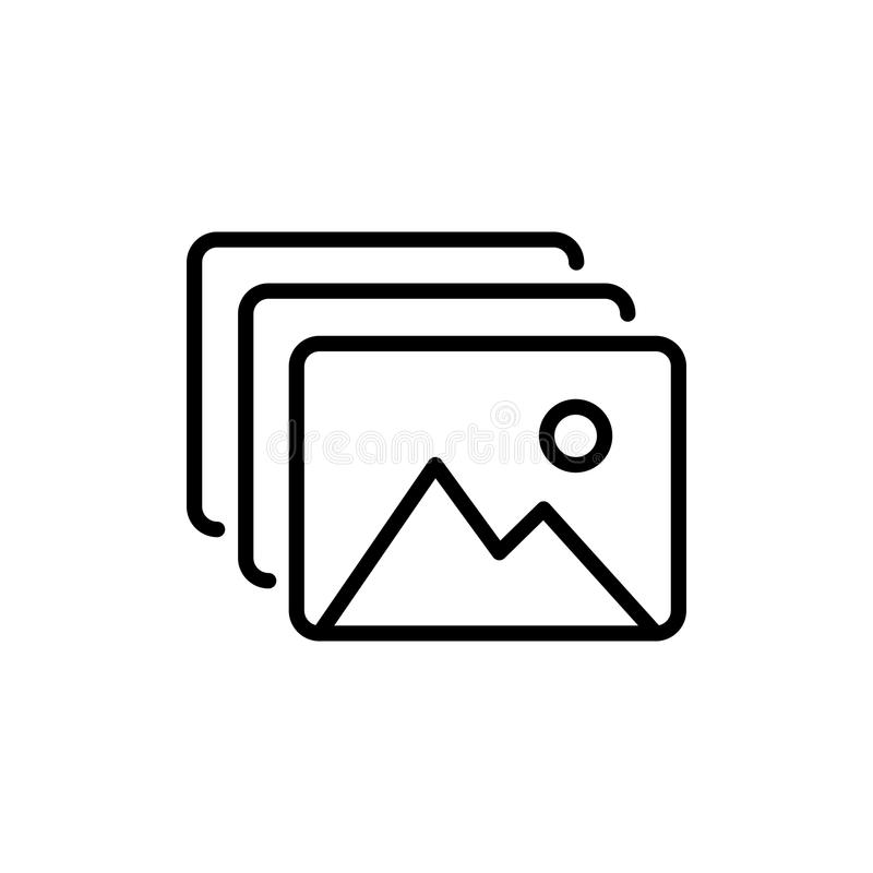 Premium picture icon or logo in line style. royalty free illustration