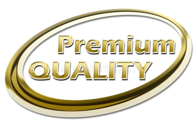 Premium Quality. Gold, golden Premium Quality sign symbol on white background vector illustration