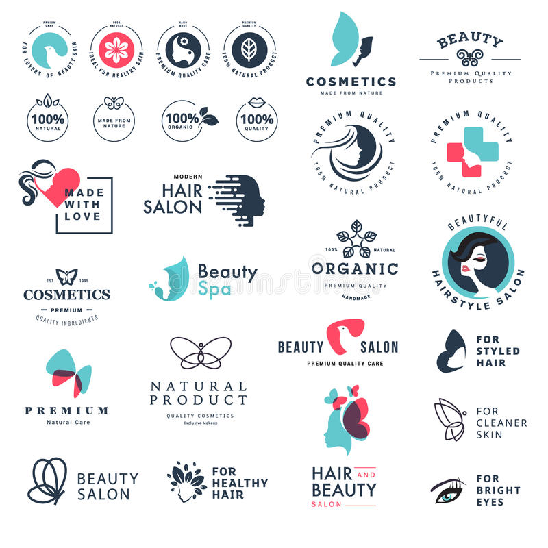 Premium quality beauty and nature icons royalty free illustration