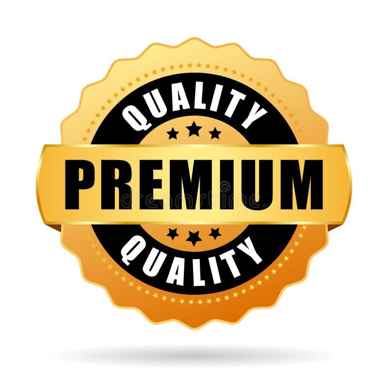 Premium quality gold vector icon royalty free illustration