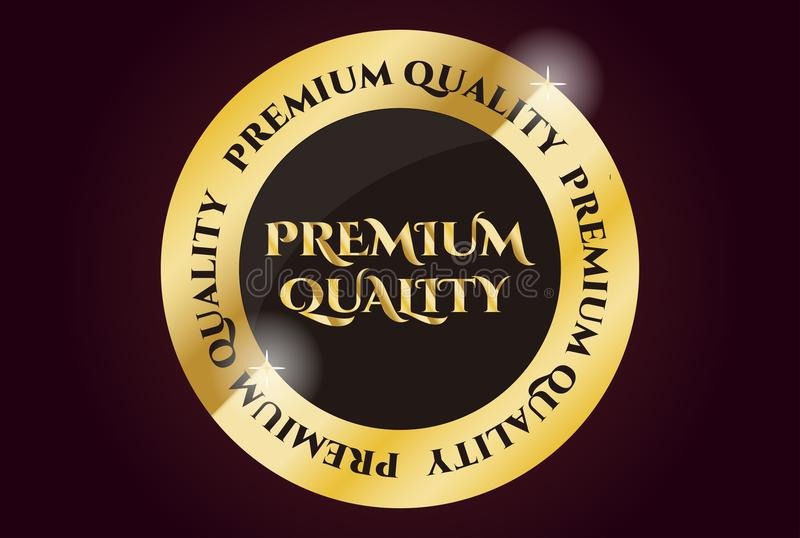 Premium Quality Golden Seal. Golden Seal for premium quality products or services stock illustration