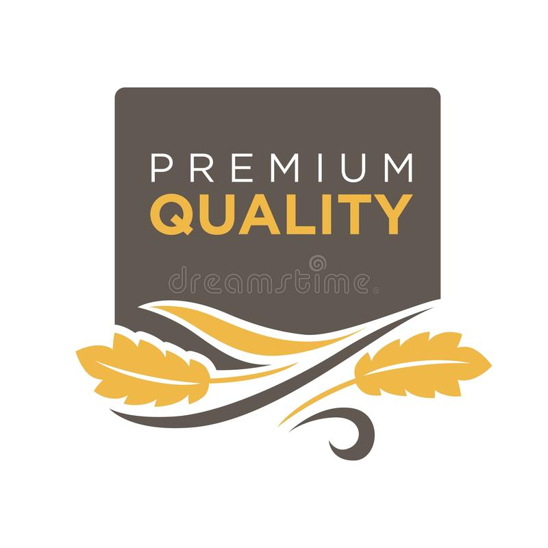 Free Premium Quality Grain Logo With Ears Of Wheat Symbol Isolated Royalty Free Stock Image - 92217726