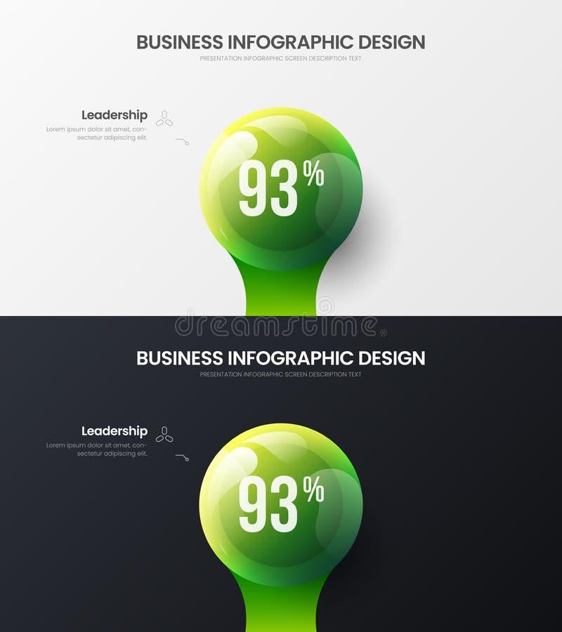 1 option marketing presentation vector illustration bundle. Business data visualization design layout infographic set. Premium quality 1 option marketing stock illustration