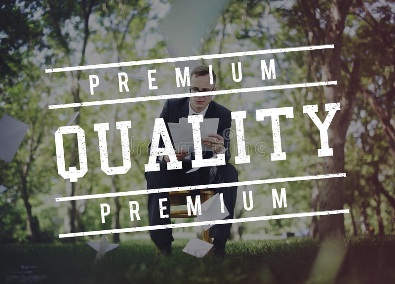 Premium Quality Standard Value Worth Graphic Concept. Premium Quality Standard Value Worth Graphic royalty free stock photos