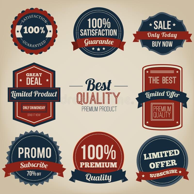 Premium quality vintage label design stock illustration