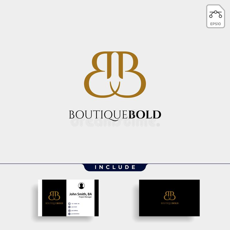Premium Vector B Logo in gold color. Beautiful Logotype design for luxury company fashion branding vector illustration