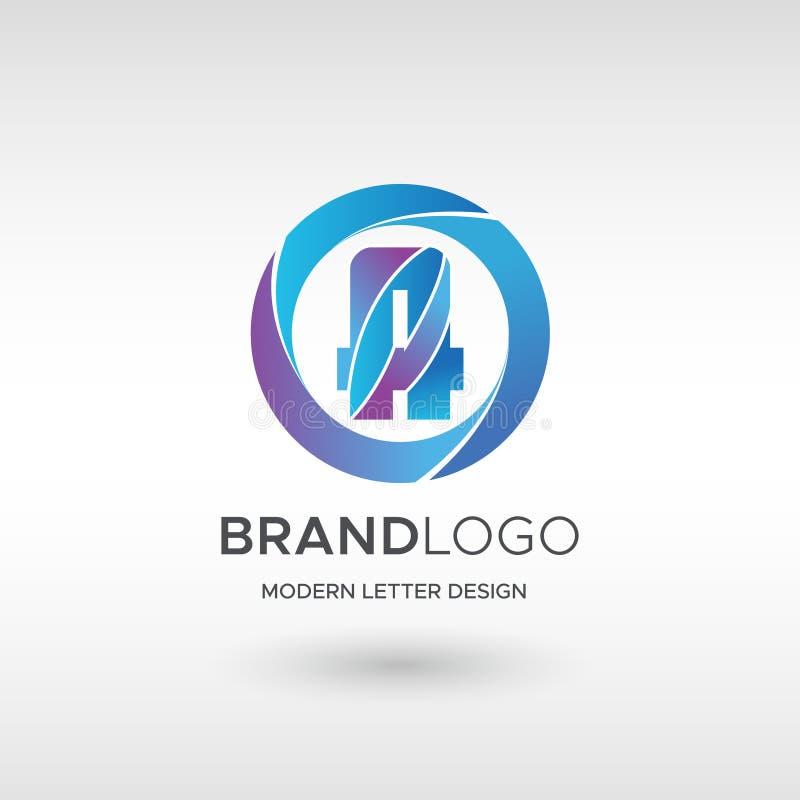 Premium Vector A Logo in gradation color variations. Beautiful Logotype design for company branding. Elegant identity design in vector illustration