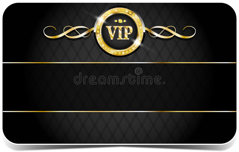 Premium vip card. Premium vip glossy card for web sites stock illustration
