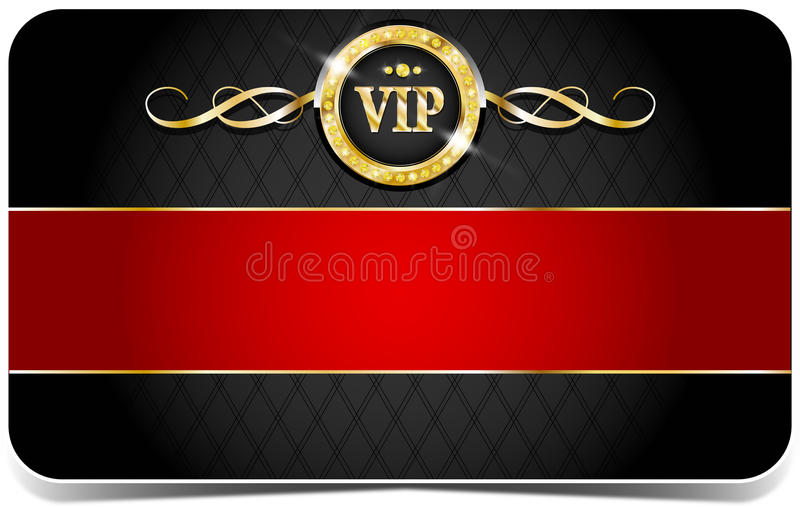 Premium vip card. Premium vip glossy card for web sites vector illustration