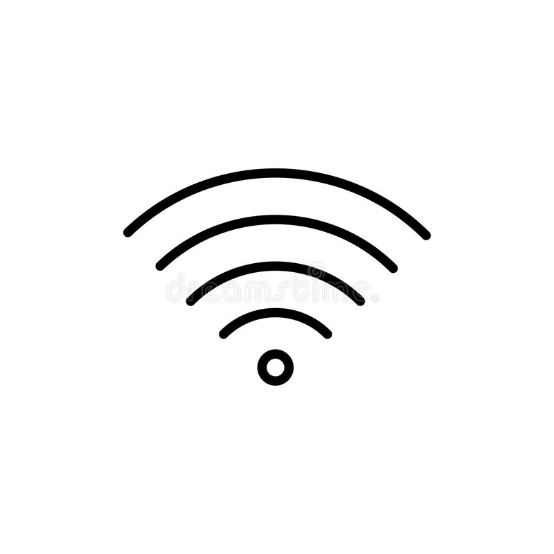 Premium wi-fi icon or logo in line style. royalty free illustration