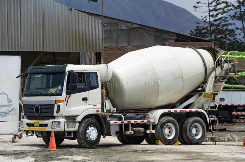 Premixed concrete mixer truck ready for the job.  stock photos