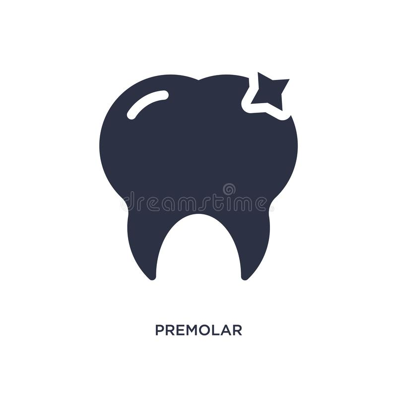 premolarsymbol på vit bakgrund Enkel beståndsdelillustration från medicinskt begrepp royaltyfri illustrationer