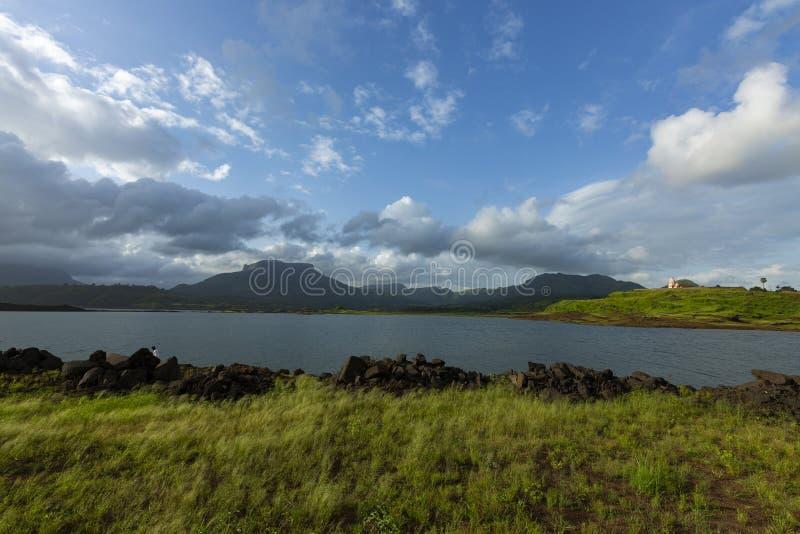 Premonsoon clouds seen near Morbe Dam,Panvel,Maharashtra,India. Asia royalty free stock photos