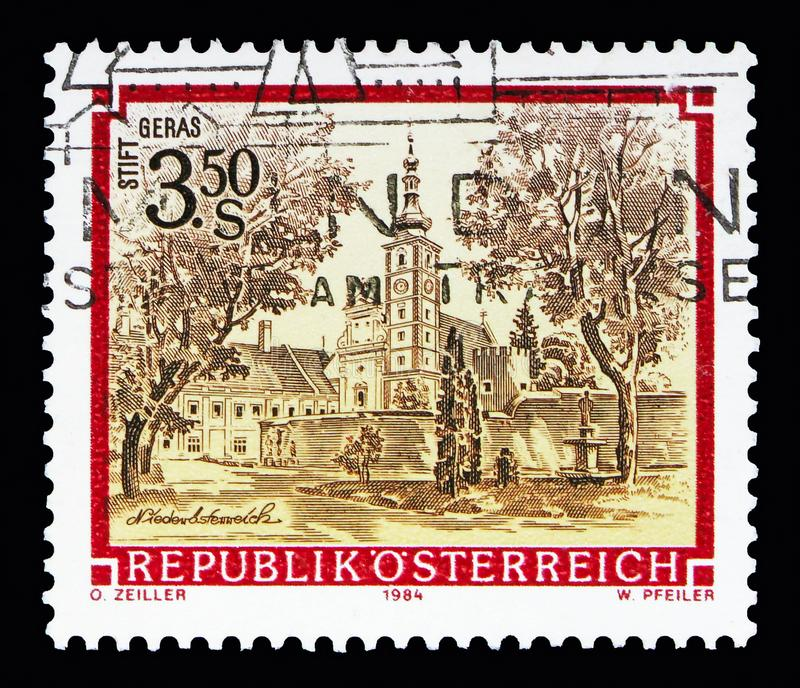 Premonstratensian-Kloster, serie Geras, der Klöster und der Abteien lizenzfreies stockfoto