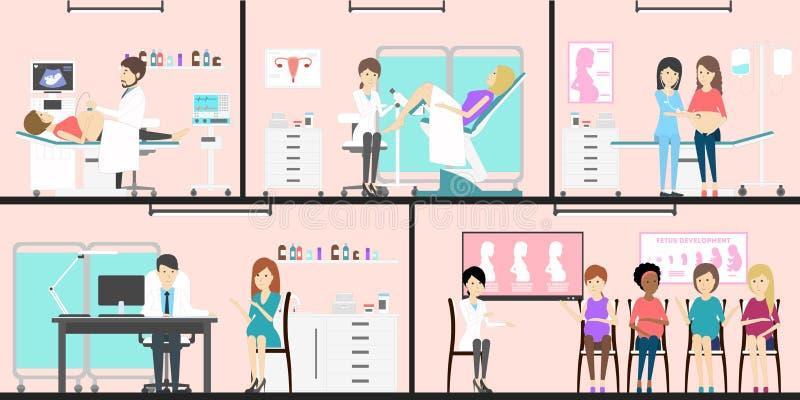 Prenataal medisch centrum royalty-vrije illustratie