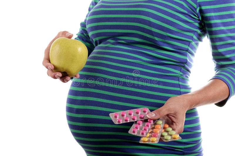 Prenatale Vitamine stockfoto