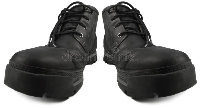 Prenda impermeable casual elegante diaria que camina las botas, pares de la bota de los hombres cómodos elegantes del estilo rugo imagen de archivo libre de regalías